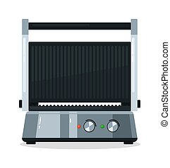 Electric grill model isolated on white background