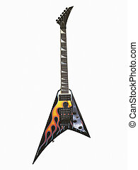 Electric Guitar 1 - Unusually contoured electric guitar with...