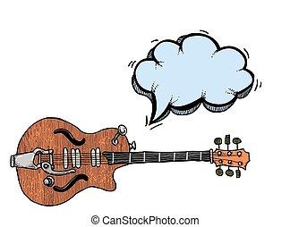 electric guitar-100 Cartoon image - Cartoon image of...