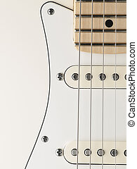 Electric guitar body - white electric guitar body closeup , ...