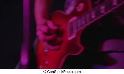 Electric guitar closeup