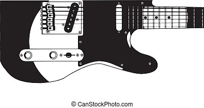 Electric Guitar Drawing