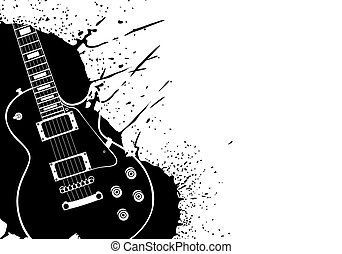 Electric guitar - Electric vector guitar on white background