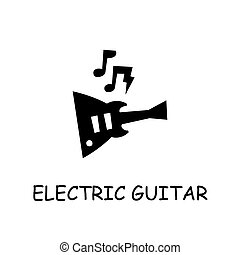 Electric Guitar flat vector icon