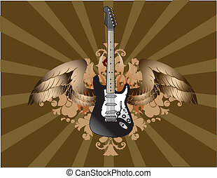 Electric guitar grunge background