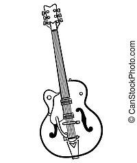 Electric Guitar line art illustration - a simple Electric...