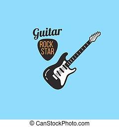 electric guitar logo
