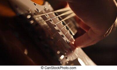Electric Guitar Low Angle Shadows - Lights and shadows...