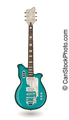 Electric guitar on a white background. Vector.