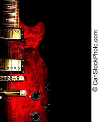 electric guitar - music concept with red electric guitar...