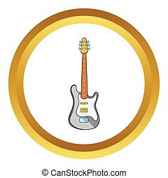 Electric guitar vector icon