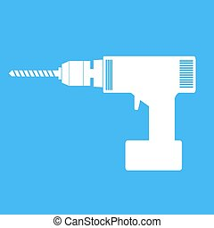 Electric hand drill icon .