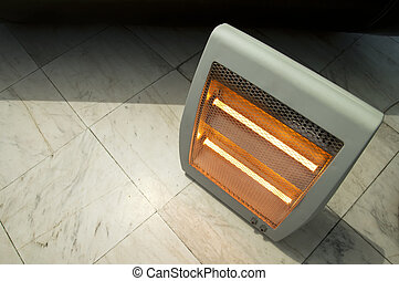 Electric heater close up