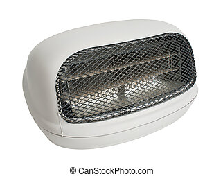 Electric Heater isolated from white