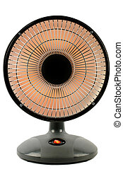 Electric heater isolated on white