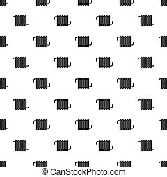 Electric heater pattern vector