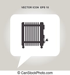 electric heater vector icon
