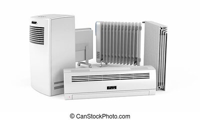Electric heaters - Different types of domestic electric...