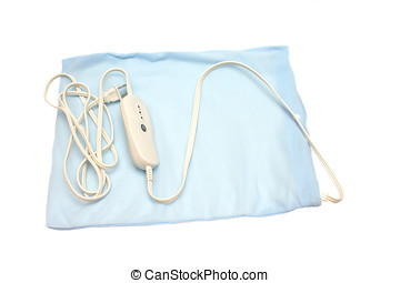 heating pad - electric heating pad isolated on white ...