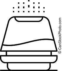 Electric humidifier icon, outline style - Electric...
