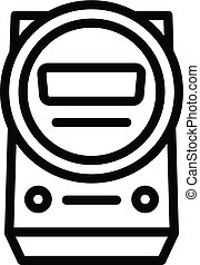 Electric indicator icon, outline style - Electric indicator...
