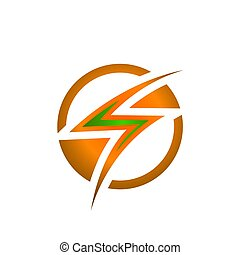"""Electric Industrial. Power logo. The letter """"S"""" with lightning on a dark background"""