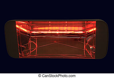 Infrared Heater - Electric Infrared Heater on a black...