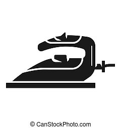 Electric iron icon. Simple illustration of electric iron icon for web design isolated on white background
