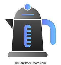Electric kettle flat icon. Household color icons in trendy flat style. Teapot gradient style design, designed for web and app. Eps 10.