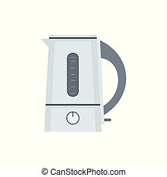 Electric kettle. flat style. isolated on white background