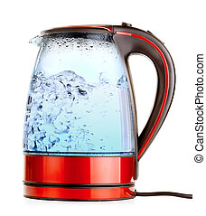 Electric Kettle - glass electric kettle with boiling water,...