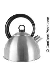 Electric Kettle on White Background