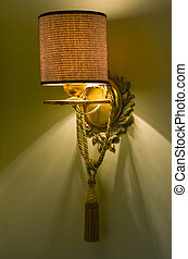 electric lamp against the wall in a comfortable room