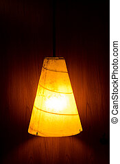 Electric light lamp on wall
