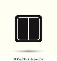Electric light switch icon. Electric switch flat vector illustration on white background.