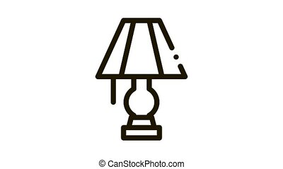 Electric Lighting Lamp Icon Animation. black Electric Lighting Lamp animated icon on white background