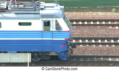 electric locomotive   - Blue electric locomotive