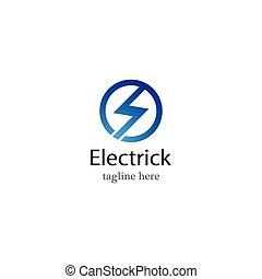 Electric logo vector icon
