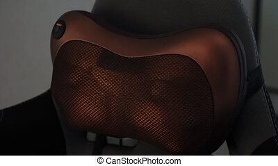 Electric massage cushion with infrared warming areas,...