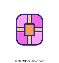 electric mattress icon vector outline illustration