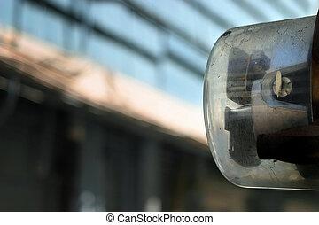 Electric meter - Artful shot of an electric meter against...