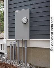Electric meter - Digital residential power supply meter on ...