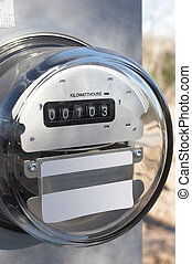 Electric Meter - Electric meter on temporary pole at new...