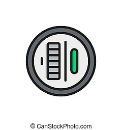 Vector electric meter flat color line icon. Symbol and sign illustration design. Isolated on white background