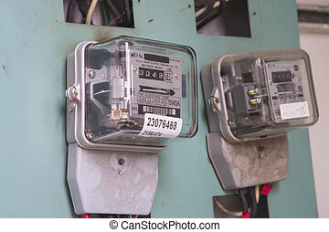 meter - Electric meter front view / close up