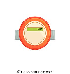 Electric meter, household measuring device vector illustration isolated on a white background