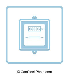 Electric meter icon. Blue frame design. Vector illustration.