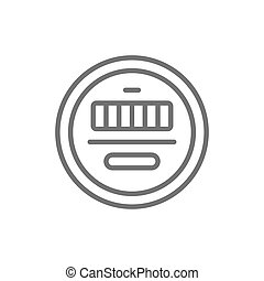 Vector electric meter line icon. Symbol and sign illustration design. Isolated on white background