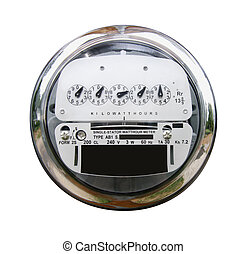 Electric Meter with Clipping Path - Electric meter isolated...