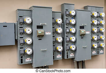 Electric Meters At Apartment Comple